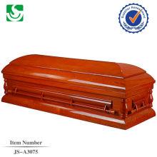 Conventionnelles standards brillant en bois religieux cercueils