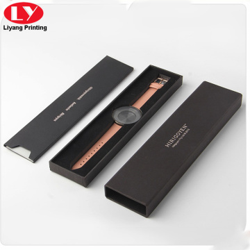 Прямоугольник черные женские часы подарочная коробка