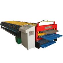 Trapezoidal roof panel corrugated wall tile making machine