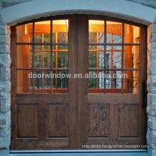 Vintage Half 9 lite double panel Design Wood Interior Sliding Barn Door knotty alder pine commercial interior half doors