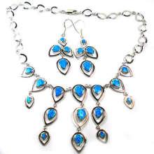 Joia Opal-conjunto de joias de prata (YS00228)