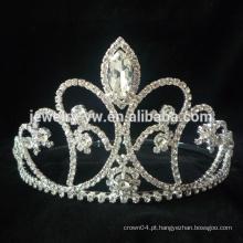 Venda Por Atacado Hot Venda Popular Requintado Romântico Beautiful Bridal Flores Alloy Crystal Prata