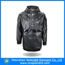Veste noire en molleton chaud extérieure de Guangdong usine avec de haute qualité