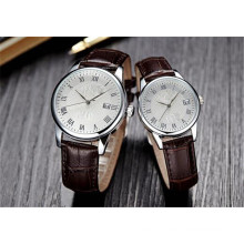 Yxl-710 Stainless Steel Back Wrist Watch Classic Leather Watch Straps Japan Movt Quartz Couple Men Women Watch