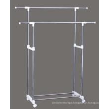 Newest Double pole Garment rack