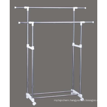 Newest Double pole Garment rack