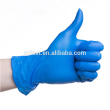 disposable blue powder free medical nitrile gloves