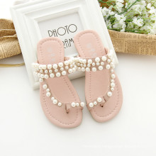 Shoes for daughters and mom pink mother shoes in beige colour sandals with beads for mommy and kids