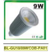 Projecteur de 9W Dimmable GU10 COB LED
