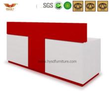Red&White Design Office Wooden Reception Desk (HY-Q34)