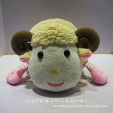 Nombre de fábrica YuanKang que hace los juguetes 100% de la felpa de la oveja del poliéster de la aduana,