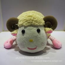Nome da fábrica YuanKang Fazer personalizado 100% poliéster pelúcia travesseiro ovinos brinquedos,