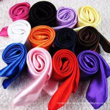 New Fashion collection 90*90 cm light weight decorative dubai muslim prayer scarf hijab 2017 silk satin scarf solid color