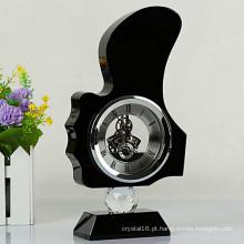 Relógio de cristal bonito para decoração de mesa