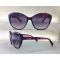Óculos de sol da moda da senhora Óculos de sol da praia Templo do metal oco P25029