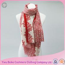 Châle de pashmina de soie de style classique imprimé floral