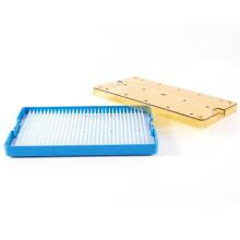 Caja de esterilización de instrumentos médicos de silicona blanca