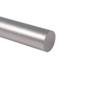 Tubo de aluminio anodizado plateado Tubo de aluminio pulido