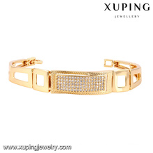 74514 Fashion élégant CZ 18k en alliage plaqué or bijoux bijoux Bracelet