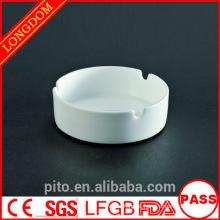 P & T cerâmica fábrica de porcelana cinzeiro branco