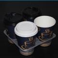 Einweg-Tee Kaffee Saft Kunststoff 4 Tasse Tablett