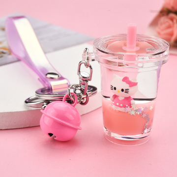 Kitty Cat Liquid Keychain