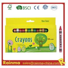 Non-toxic 18PCS Jumbo Crayon в бумажной коробке