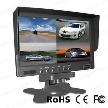 7inches 4 Chanels Quad Monitor de copia de seguridad