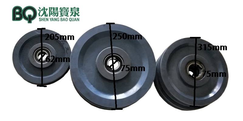 tower crane pulley
