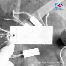China Etiqueta de lujo blanca más barata de la caída del papel de arte del logotipo de encargo