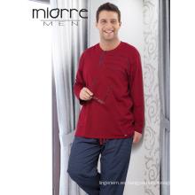Miorre Men's 2017 temporada de gran tamaño de algodón pijamas de textura conjunto