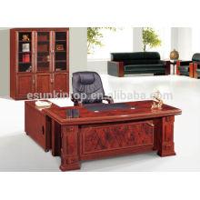 2015 novo design mdf moderna mesa de escritório redonda, casa usada mesa de escritório de design simples