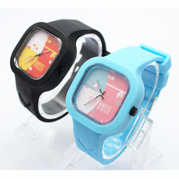 Hot Sale Kids Silicone Quartz Wristband Watch