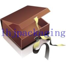 Luxo Dobradiça Presente Embalagem Chocolate Box com Ribbon