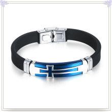 Stainless Steel Bracelet Silicone Jewelry Silicone Bracelet (LB502)