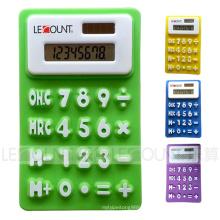 Calculatrice de cadeau en silicone mini taille 8 chiffres avec aimant (LC519)
