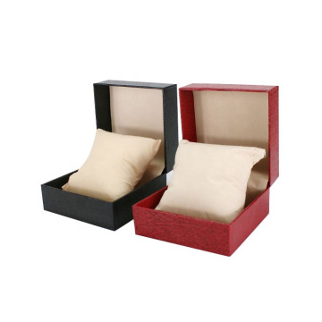 Wholesale custom cheap low price Man Women single Black Red  Paperboard Paper watch box with pillow