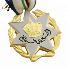 Médaille de sport 3d double plaque mat avec or et argent mat