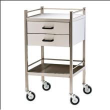 Chariot de médecine d'hôpital en acier inoxydable