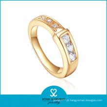Atacado de ouro 18k chapeamento prata jóias anel para as mulheres (R-0405)