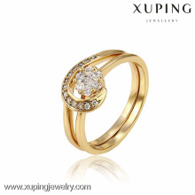 12991 Xuping new design gold women ring sets