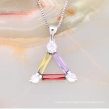Fashion Good Quality Imitation Jewelry Lucky Triangle Pendant