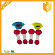 Profissional Colorido Silicone Handle cozinha medindo colher