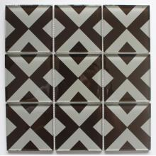 95x95mm ukuran Single Crystal kaca mosaik