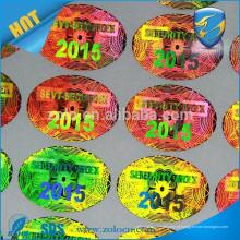ZOLO Tamper evidente VOID / Golden Custom faz uma etiqueta de folha holográfica