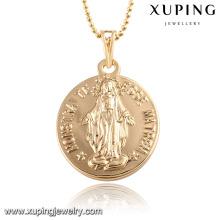 32589 Mode 18k plaqué or alliage cuivre mots imitation bijoux chaîne pendentif