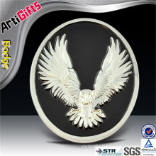Wholesale brass eagle enamel sign car emblem