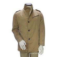 Chaqueta de la capa larga del guisante del invierno de encargo de la moda Outwear