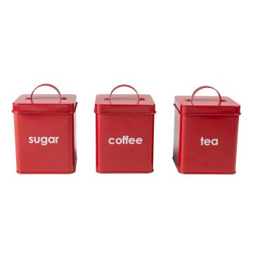 Aufbewahrungsbox für Lebensmittel aus Metall Blechdose Kitchen Box Bin