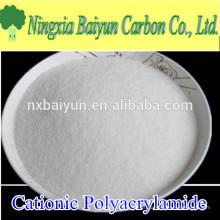Polvo de poliacrilamida floculante polimérico de alto contenido de 90% de contenido sólido